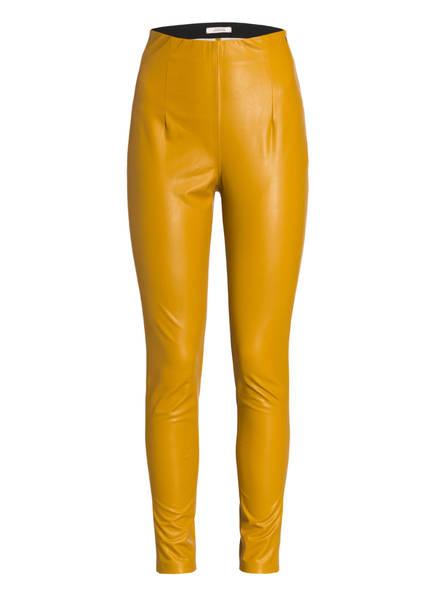 DOROTHEE SCHUMACHER Hose SECOND SKIN in Lederoptik, Farbe: OCKER (Bild 1)
