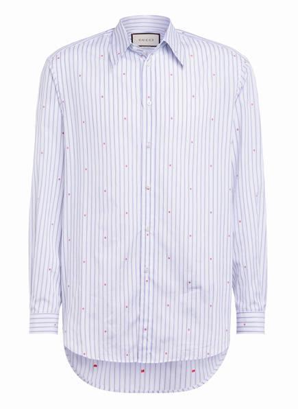 GUCCI Oversized-Hemd Comfort Fit , Farbe: WEISS/ BLAU GESTREIFT (Bild 1)