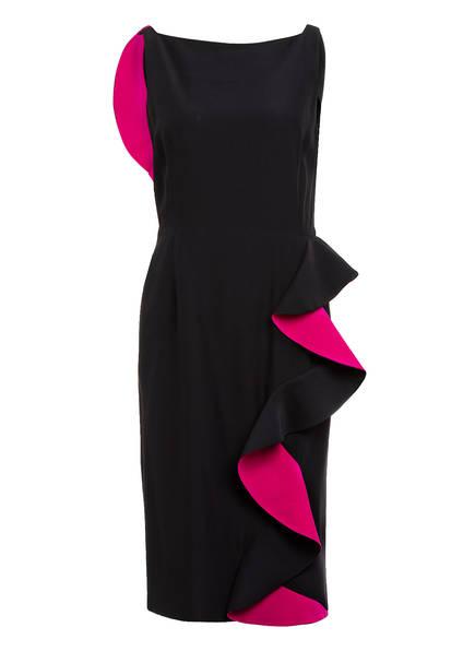 ALEXANDER McQUEEN Kleid mit Volantbesatz, Farbe: SCHWARZ/ PINK (Bild 1)
