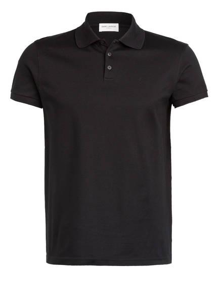 SAINT LAURENT Piqué-Poloshirt, Farbe: SCHWARZ (Bild 1)