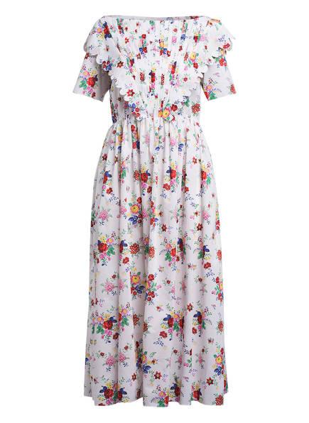 HORROR VACUI Kleid FLABELLA, Farbe: WEISS/ GRÜN/ ROT (Bild 1)