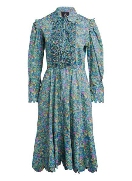 HORROR VACUI Kleid ELECTRA, Farbe: BLAU/ GRÜN/ ORANGE (Bild 1)