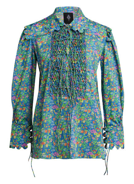 HORROR VACUI Blusenshirt ELECTRA, Farbe: BLAU/ GRÜN/ ORANGE (Bild 1)