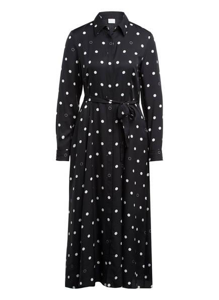 BOSS Hemdblusenkleid mit Seide, Farbe: SCHWARZ/ WEISS (Bild 1)