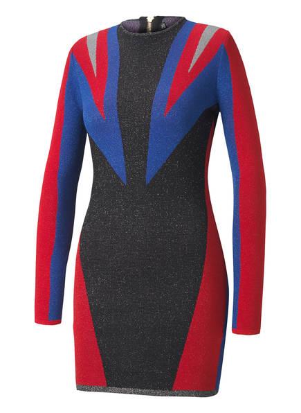PUMA Jacquard-Kleid mit integriertem Glitzergarn , Farbe: ROT/ BLAU/ SCHWARZ  (Bild 1)