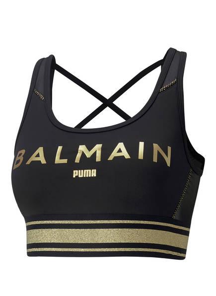 PUMA Sport-BH, Farbe: SCHWARZ/ GOLD  (Bild 1)