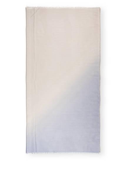 IRIS von ARNIM Cashmere-Tuch HEIDI, Farbe: BLAUGRAU/ CREME (Bild 1)