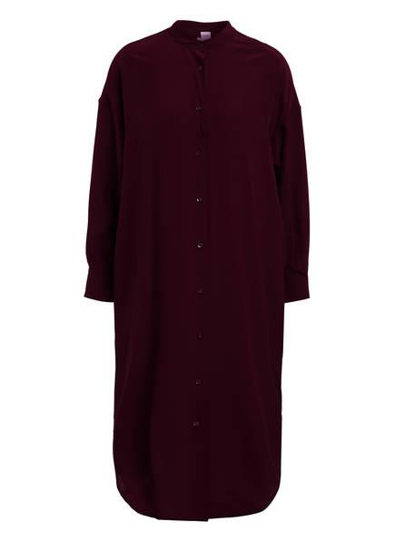 ASPESI Hemdblusenkleid aus Seide, Farbe: DUNKELROT (Bild 1)