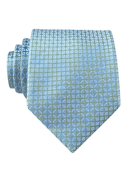 PAUL Krawatte , Farbe: HELLBLAU/ GRÜN KARIERT (Bild 1)