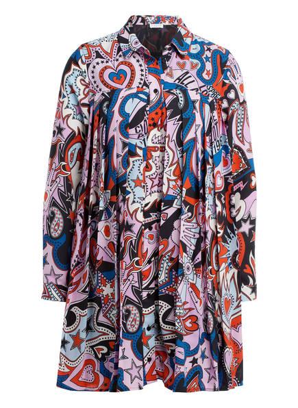 CLAUDIE PIERLOT Hemdblusenkleid RAMSES, Farbe: ROT/ ROSE/ BLAU (Bild 1)