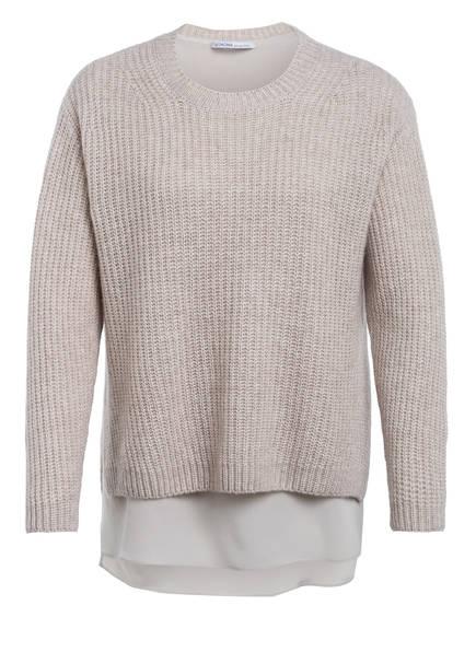 AGNONA Oversized-Pullover mit Cashmere , Farbe: BEIGE (Bild 1)