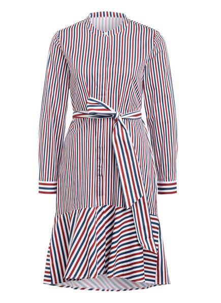 Mrs & HUGS Hemdblusenkleid, Farbe: WEISS/ DUNKELROT/ DUNKELBLAU  (Bild 1)
