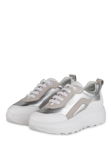 STEFFEN SCHRAUT Plateau-Sneaker 83 NEON AVENUE , Farbe: WEISS/ SILBER (Bild 1)