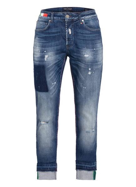 CARLO COLUCCI Destroyed Jeans Regular Fit, Farbe: 11 DENIM (Bild 1)
