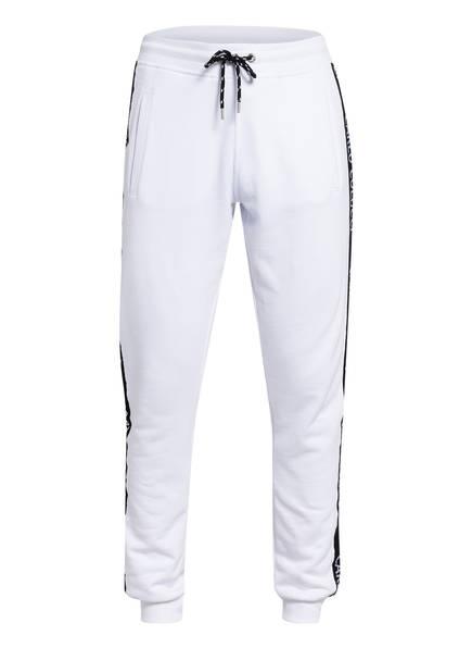 CARLO COLUCCI Sweatpants mit Galonstreifen , Farbe: WEISS (Bild 1)