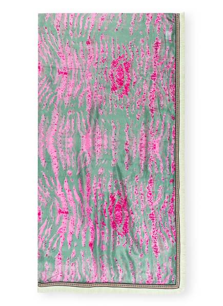 MALA ALISHA Seidentuch TABBY, Farbe: GRÜN/ ROSA (Bild 1)