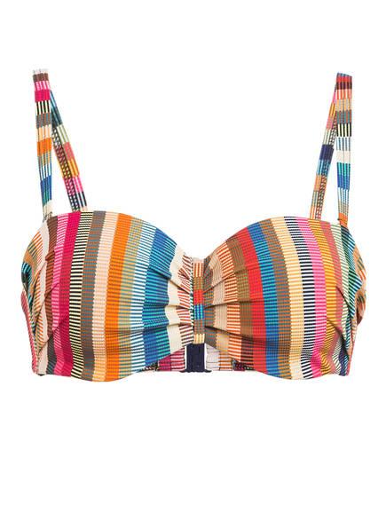 CYELL Bandeau-Bikini-Top DELHI HOT, Farbe: GRÜN/ BLAU/ ROSA (Bild 1)