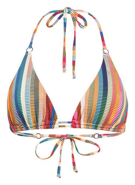 CYELL Triangel-Bikini-Top DELHI HOT, Farbe: GRÜN/ BLAU/ ROT (Bild 1)