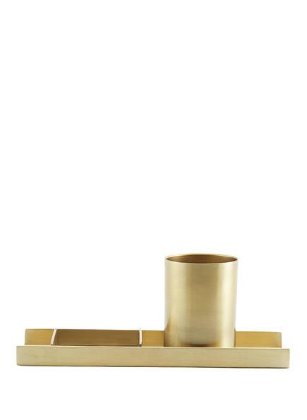 MONOGRAPH 3-tlg. Schreibtisch-Organizer , Farbe: GOLD (Bild 1)