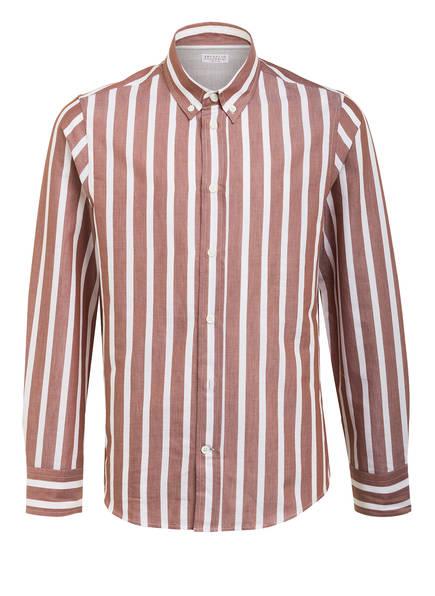 BRUNELLO CUCINELLI Hemd, Farbe: HELLBRAUN/ CREME GESTREIFT (Bild 1)