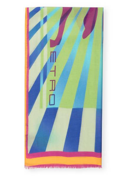 ETRO Schal, Farbe: GRÜN/ LILA/ BLAU (Bild 1)
