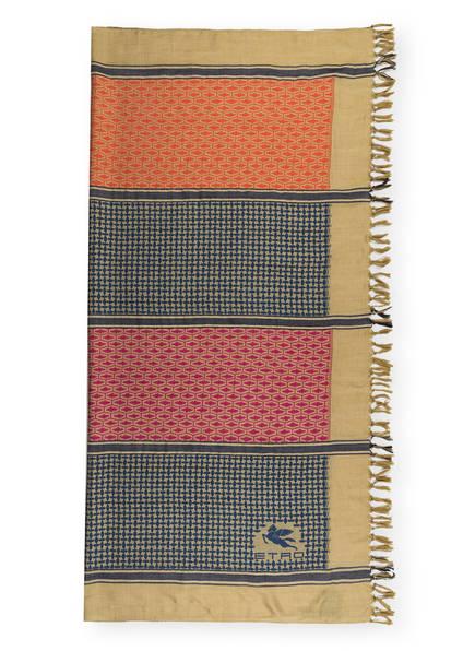 ETRO Tuch, Farbe: OLIV/ PINK/ DUNKELBLAU (Bild 1)