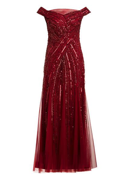ADRIANNA PAPELL Abendkleid mit Paillettenbesatz , Farbe: DUNKELROT (Bild 1)