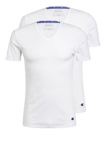 Champion 2er-Pack V-Shirt, Farbe: WEISS (Bild 1)