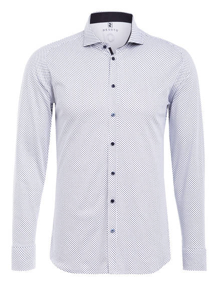 DESOTO Hemd Extra Slim Fit, Farbe: WEISS/ DUNKELBLAU (Bild 1)