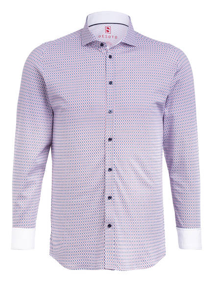 DESOTO Jerseyhemd Slim Fit, Farbe: WEISS/ BLAU/ ROT (Bild 1)