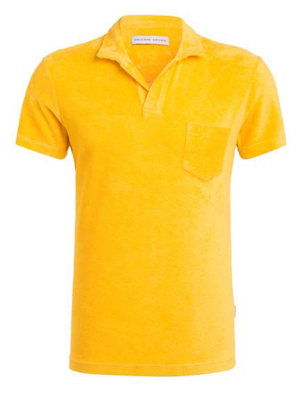 ORLEBAR BROWN Poloshirt aus Frottee, Farbe: DUNKELGELB (Bild 1)