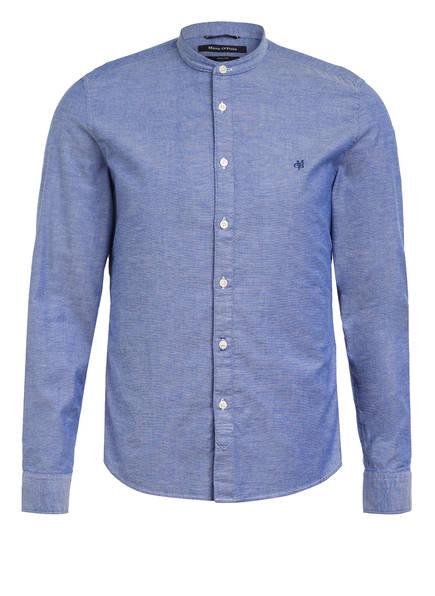 Marc O'Polo Hemd Shaped Fit mit Stehkragen, Farbe: BLAU (Bild 1)