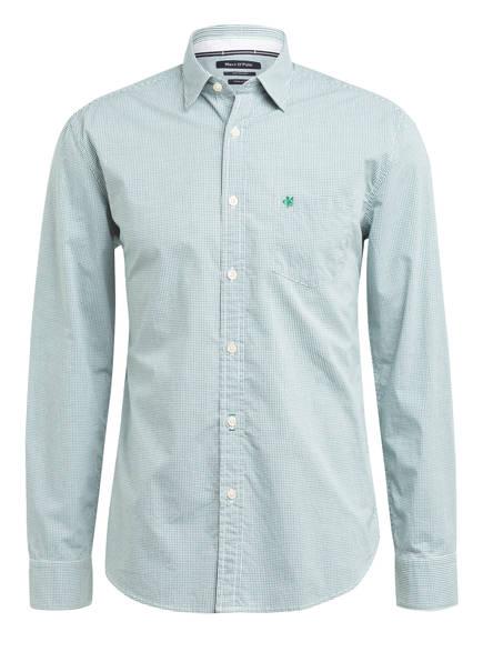 Marc O'Polo Hemd Regular Fit, Farbe: GRÜN/ WEISS KARIERT (Bild 1)