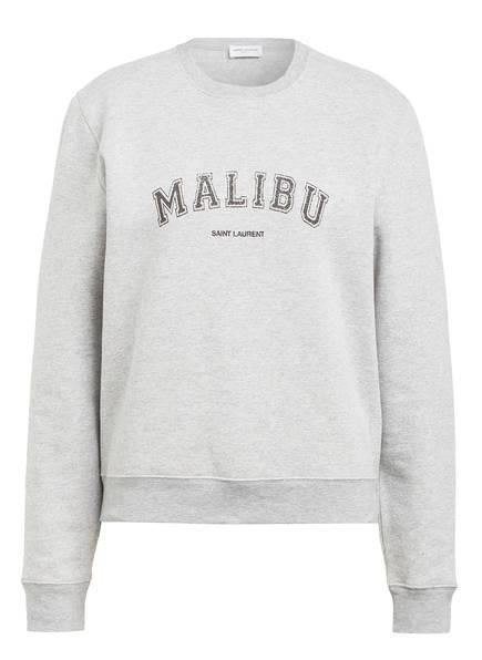 SAINT LAURENT Sweatshirt, Farbe: HELLGRAU MELIERT/ SCHWARZ (Bild 1)