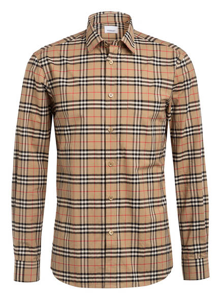 BURBERRY Hemd SIMPSON Slim Fit , Farbe: BEIGE/ SCHWARZ/ ROT KARIERT (Bild 1)