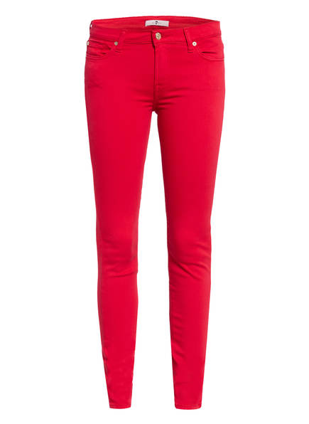 7 for all mankind Skinny Jeans THE SKINNY , Farbe: ROT (Bild 1)