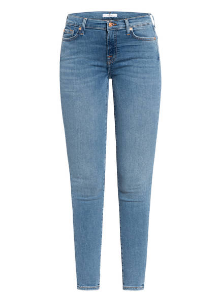 7 for all mankind Skinny Jeans THE SKINNY, Farbe: SLIM ILLUSION DEPARTED LIGHT BLUE (Bild 1)
