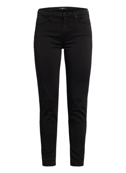 7 for all mankind Skinny Jeans HIGH WAIST SKINNY CROP, Farbe: SATEEN BLACK (Bild 1)