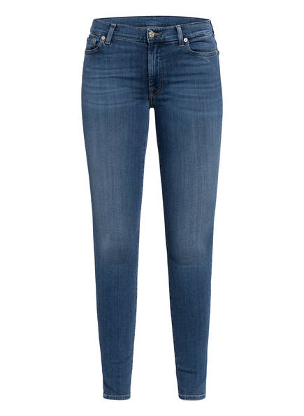7 for all mankind Skinny Jeans HW SKINNY, Farbe: SLIM ILLUSION LUXE LOVESTORY MID BLUE (Bild 1)