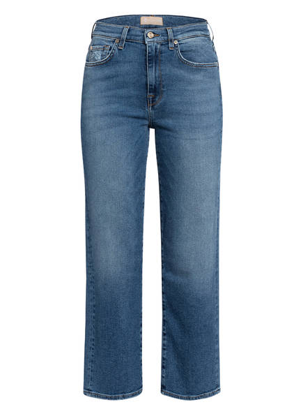 7 for all mankind Jeans-Culotte CROPPED ALEXA, Farbe: Luxe Vintage Capitola Mid Blue (Bild 1)