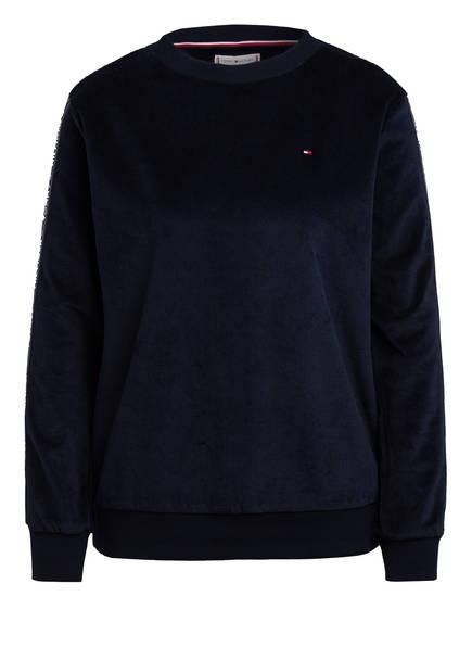 TOMMY HILFIGER Lounge-Shirt in Nicki-Qualität , Farbe: DUNKELBLAU (Bild 1)