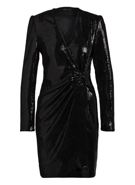 maje Kleid RIVY mit Paillettenbesatz in Wickel-Optik, Farbe: SCHWARZ (Bild 1)