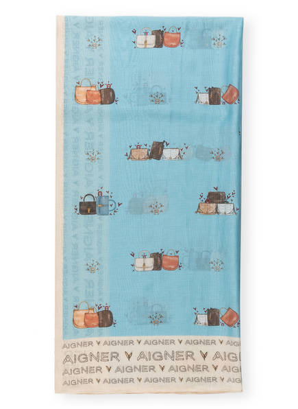 AIGNER Tuch mit Seide, Farbe: HELLBLAU (Bild 1)