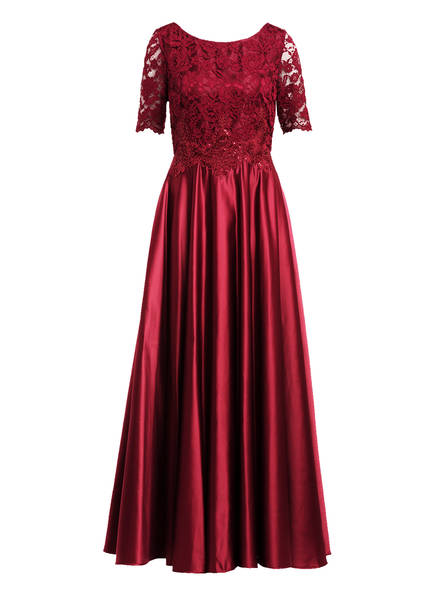 Vera Mont Abendkleid mit Paillettenbesatz, Farbe: DUNKELROT (Bild 1)