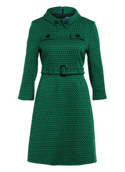 damsel in a dress Tweed-Kleid SABRI mit 3/4-Arm, Farbe: GRÜN/ SCHWARZ (Bild 1)