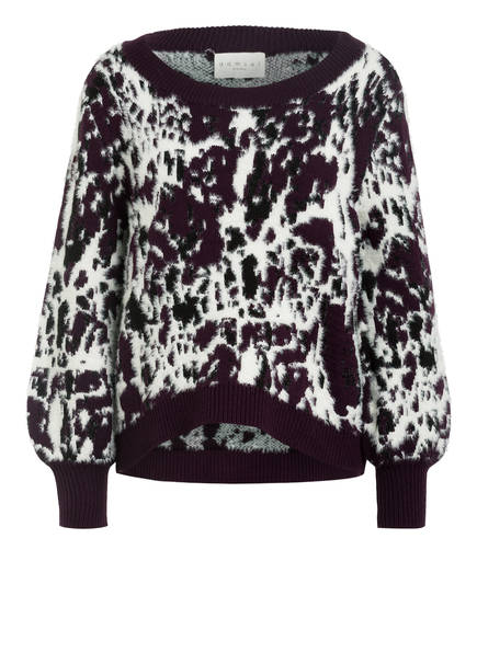 damsel in a dress Pullover RENA , Farbe: WEISS/ DUNKELLILA/ SCHWARZ (Bild 1)