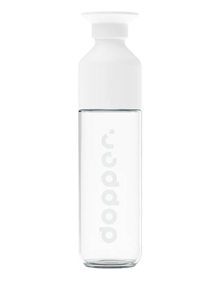 dopper Trinkflasche DOPPER GLASS, Farbe: WEISS/ TRANSPARENT (Bild 1)