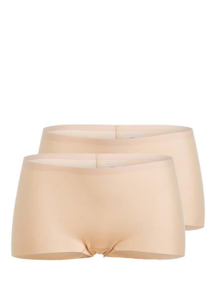 MAGIC BODYFASHION 2er-Pack Panties DREAM INVISIBLES BOYSHORT , Farbe: NUDE (Bild 1)