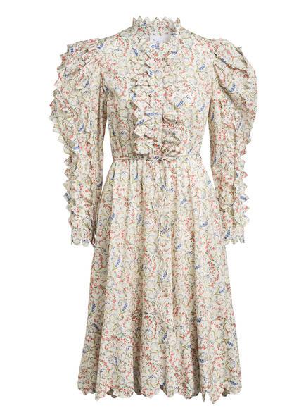 HORROR VACUI Kleid TRIANGULA, Farbe: ECRU/ BLAU/ ROT (Bild 1)