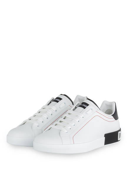 DOLCE&GABBANA Sneaker PORTOFINO, Farbe: WEISS/ SCHWARZ (Bild 1)